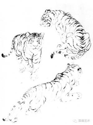 怎样画工笔老虎,一看便知图片
