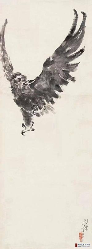 徐悲鸿的老鹰, 英气逼人