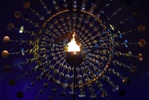 组图-巴西奥运会正式开始 利马点燃圣火